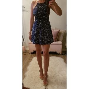 By the Way Stassia Halter Dress in Navy Star